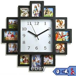 Family Love Picture Horloge Murale 12 Multi Photo Frame Cadeau Maison Décor Modern Fun