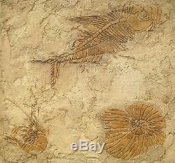 Fossile Préhistorique Stencil Kit Bricolage Mur Dimensional Décor Pochoirs