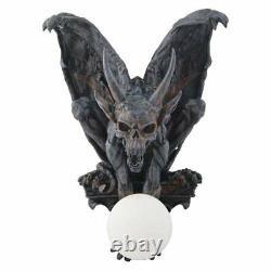 Gargoyle Wall Lamp Decorative Figurine Gothic Lamp Horror Gargoyle With Horns