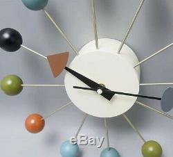 George Nelson Ball Clock Reproduction Milieu Du Siècle Modern Vintage Décor Atomique