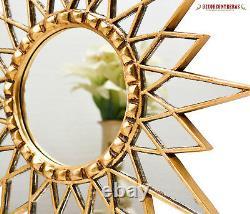 Gold Star Mirror 23.6, Décoratif Miroir Mural, Starburst Mirro Pour La Décoration Murale