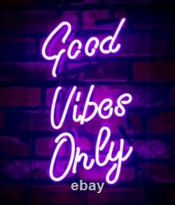 Good Vibes Only Neon Light Sign Beer Bar Pub Party Home Room Wall Decor Artwork
