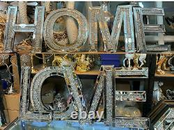 Grand Crash De Diamant Brillant Argent Miroir Miroir Amour Domestique Maison Décorative Suspendue