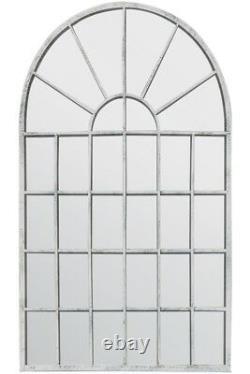 Grand Miroir Mural Off White Chic Arched Garden 2ft7 X 1ft8 79cm X 51cm