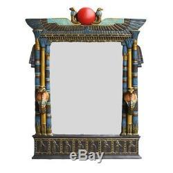 Grand Mur Cobra Égyptien Ancien Miroir Plaque 25 Hauteur Sculpture Décoration