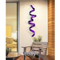 Grand Purple Metal Wall Art Sculpture Abstract Modern Purple Decor Par Jon Allen