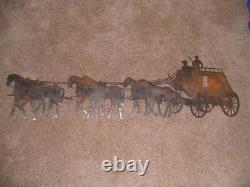 Grand Western Stagecoach Western Mur Art 47 Large Décor Acier Élégant Stc48