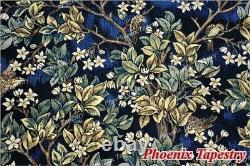 Grand William Morris Tree Of Life Tapestry Wall Hanging, Blue, 78x55, États-unis