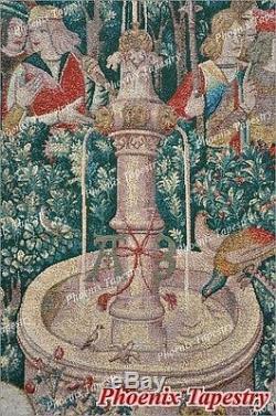 Grande Chasse De La Licorne Médiévale Art Tapisserie Éponte Coton 55x54, États-unis