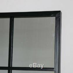 Grande Décoration Murale Moderne Élégant Industrielle Vintage De Fenêtres En Métal Miroir