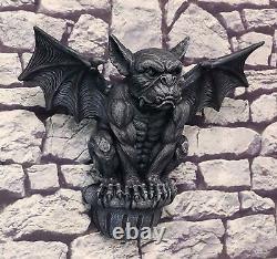 Grande Gargouille Ailé Gothique D'ebros Sur Le Décor De Mur De Rebord Accrochant La Sculpture 20w