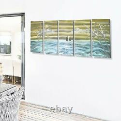 Grande Nouveau Signe Mur Métal Peinture Beach Art, Décor Océan Par Jon Allen