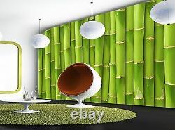 Green Bamboo Wall Mural Photo Wallpaper Giant Wall Decor Paper Poster
