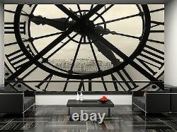 Horloge Et Vue De Montmartre Paris Wall Mural Photo Wallpaper Giant Wall Decor