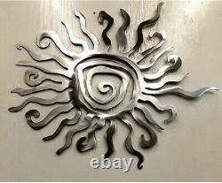 Huge 32 Wavy New Sun Decor Poli Funky Metal Wall Art Squiggle Modern