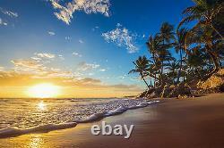 Island Beach, Coucher De Soleil Mural Fond D'écran Photo Giant Decor Affiche Papier