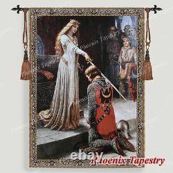 L'art Médiéval Accolade Tapisserie Mur Suspendu, 55x39, États-unis