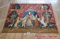La Dame Et La Licorne Médiévale Fine Art Tapisserie Éponte Desire (grand), États-unis