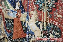 La Dame Et La Licorne Médiévale Fine Art Tapisserie Éponte Desire (medium), États-unis
