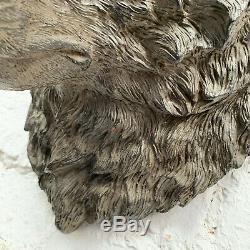 Les Ours Bruns Tête D'un Animal Buste Grand Mur Art Accueil Sculpture Ornement Décoratif