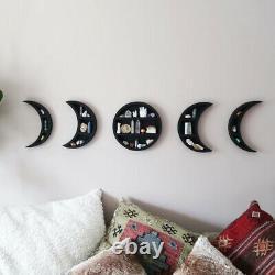 Lune Tablette Pour Cristaux Lune Décorations Pour L'affichage À Cristaux Shelf Pierres Précieuses