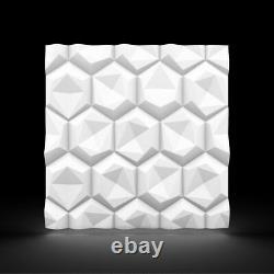 Luxe 3d Mur Panneau De Plafond Hexagon 60 X 60 Revêtement Décoratif Papier Peint Tuile