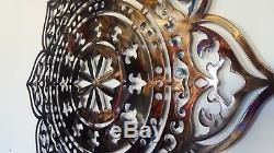 Mandala Mur Décor, Chaleur Coloré, Art Métal, Zen Art, Signe De Yoga