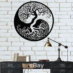 Métal Wall Art, Arbre De Vie Art Mur, Métal Yin Yang Décor, Mur En Métal De Décoration Intérieure