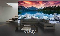 Montagne Lac Mural Fond D'écran Photo Giant Decor Affiche Papier Pâte Libre