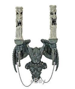 Mur Gargoyle Collection Katherine Candelabra Sconce Halloween Décor Nouveau