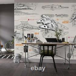 Mur Géant Murale Photo Fond D'écran Star Wars Starships Chlildrens Chambre Papier Décor