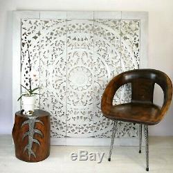 Muraux Décoratifs En Bois Sculpté À La Main Art Lotus Lit Chevet Panneau Grand