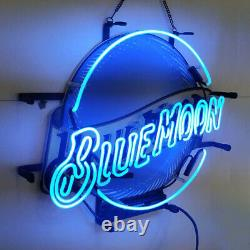 Neon Signs Gift Blue Moon Beer Bar Pub Store Party Homeroom Wall Décor 19x15