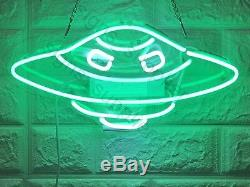 New Alien Ufo Mur Décoration Intérieure Oeuvre D'art Neon Light Sign 14 X 8