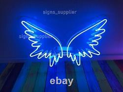 New Angel Blue Wings Neon Sign Acrylique Lampe Chambre Cadeau Décorations Pour Les 17