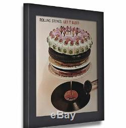 New Art Vinyle Cadre Record Flip Cadres Support Mural Home Decor Display Black Music