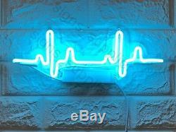 New Beating Heart Rate Applique Acrylique Décor Artwork Neon Light Sign 15x 6