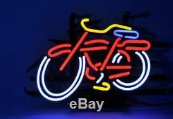 New Fat Tire Belge Neon Light Sign Lamp Pub Beer 14 Décorations En Verre Oeuvre D'art