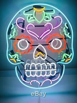 New Haunted Skull Acrylique Néon Lampe Cadeau Paroi Décor Dimmer