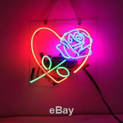New Love Rose Douce Bar Pub Décorations Acrylique Neon Light Sign 14