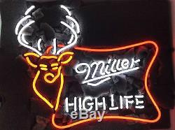 New Miller High Life Wall Deer Décor Néon 18x14