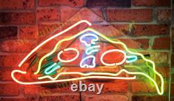 New Pizza Slice Néon Acrylique Lampe Bar Cadeau Mur Décor De La Chambre 17x10