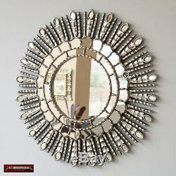 New Silver Sunburst Mirror Cuzco Style'silver Princesse Sun'-main Décorations
