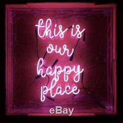 New This Is Our Happy Place Mur Rose Décor Acrylique Neon Light Sign 19x15