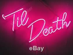 New Til Death Décor Création Paroi Décor Acrylique Lampe Néon 24