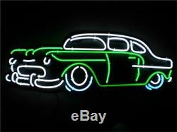 New Vintage Old Car Neon Sign Lumière 20x16 Décorations Cave Man Beer Bar