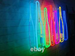 New Wine Bottles Lamp Wall Home Décor Acrylique Neon Sign 19x13