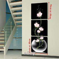 Noir Moderne D'art Abstrait Huile Toile Peinture Image Imprimer Accueil Mur Décor Chambre