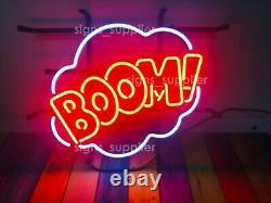 Nouveau Boom! Bubble Neon Sign Lumière Lampe 17x14 Bar Pub Décorations Chambre Cadeau