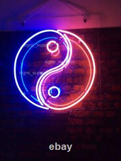 Nouveau Chinois Yin Yang Neon Light Sign 17x17 Acrylique Wall Decor
